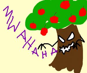Creepy evil apple tree
