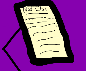 List of Mad Libs