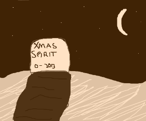 Here lies the spirit of Christmas.
