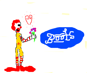 Ronald McDonalds loves boots (not booties)