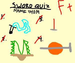 I do not recognize any of those swords.