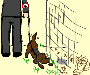 Nazi dog shares lettuce with Jewish mouse