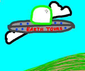 Aliens taking vacations tours at the earth