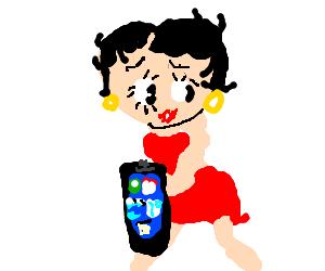 Betty Boop gotz an iPhone!
