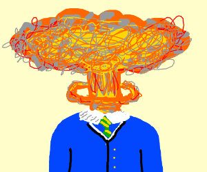 Head Explosion Drawing