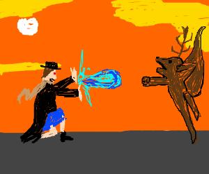 Mary Poppins vs Deer/Squirrel hybrid