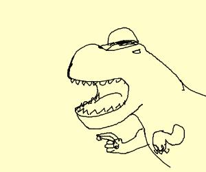 Swagasaurus-Rex threatens you with a banana.