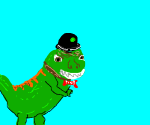 """The T-Rex in a hat from """"Meet the Robinsons."""""""