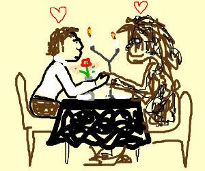 Han Solo and Chewbacca go out for a romantic d