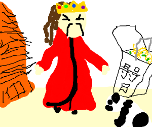 Chinese man with dreds & golden jeweled crown