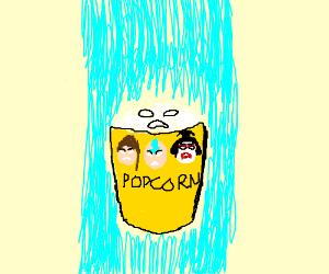 Popcorn possessed by spirit of past Avatars.