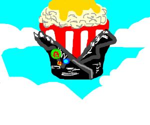 God of punk rock resembles a bucket of popcorn