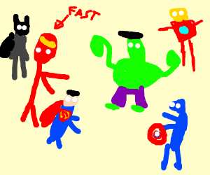 The Justice League fights the Avengers!