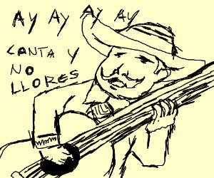 A mariachi with a moustache