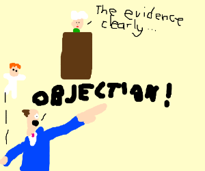 Phoenix Wright throws doll while objecting