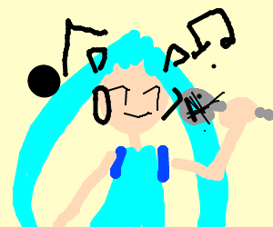 Draw your fav. Vocaloid, pass it on