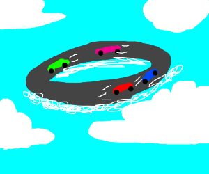 Circular race in the cluds
