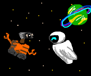 WallE and Eve have epic space fight
