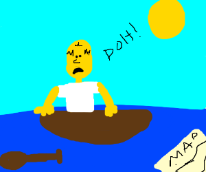 homer simpson lost at sea