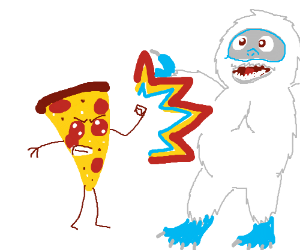 Anthropomorphic Pepperoni Pizza Mugs a Yeti