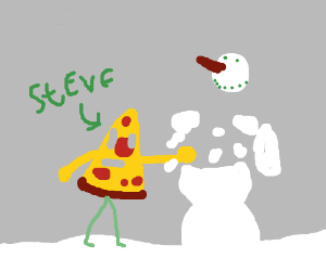 Pizza Steve punches the Abominable snowman
