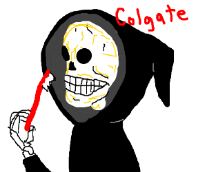 """Colgate's new commercial: """"A Brush with Death"""""""
