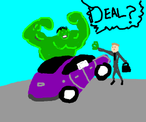 BUY PURPLE CAR OR HULK SMASH!!!!