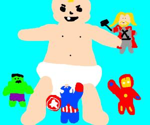Giant baby vs the avengers