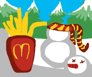 potato product kills snowman