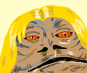 Jabba The Hutt In Blonde Wig Drawing By Sophia1093