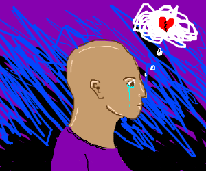 bald guy dreams of lost love