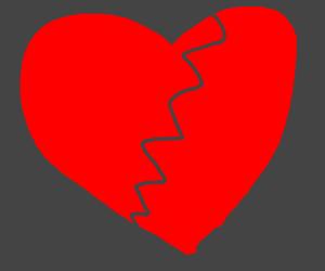 A broken heart :(