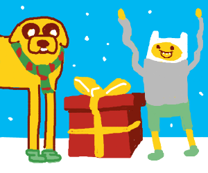 Merry Christmas (Adventure Time Style)