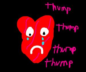 Living broken heart is sad :(