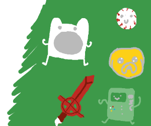 Adventure Time-themed tree ornaments