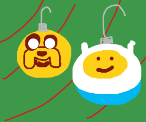 Adventure Time ornaments, BCuz I don't know Y!
