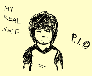 Draw your real self, pass it on