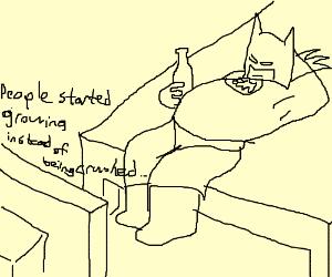 Batman watches the news