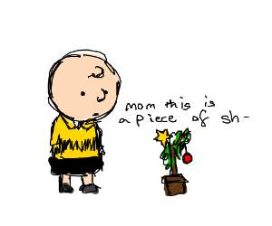 Charlie Brown Christmas Tree Drawing.Charlie Brown Christmas Tree Drawception