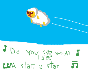 """""""Way up in the sky a little lamb"""" Sing along!"""