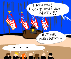 obama refuses to wear pants to speech