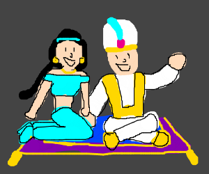 For Aladdin and Jasmine, its a whole new world