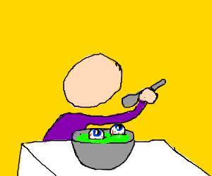 Kid finds eyeballs in soup