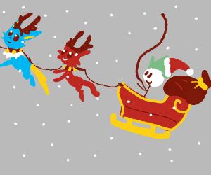 DC Vets pulling Santa's sleigh