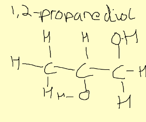 Structural formula of a chemical compound.