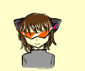 Kamina's Glasses on a girl with cat ears