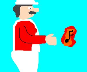 Mario's fireball contains his singing