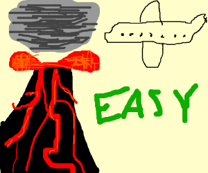 Easyjet Plane Going In The Volcanic Ash Cloud Drawing By Tucktuck24