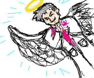 professor oak angel with one deformed wing