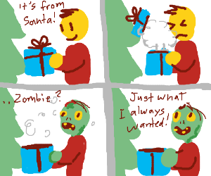 Santa gives the gift of zombification